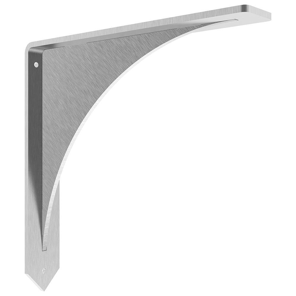 Arrowwood 10 in. x 10 in. Stainless Steel Low Profile Countertop Bracket