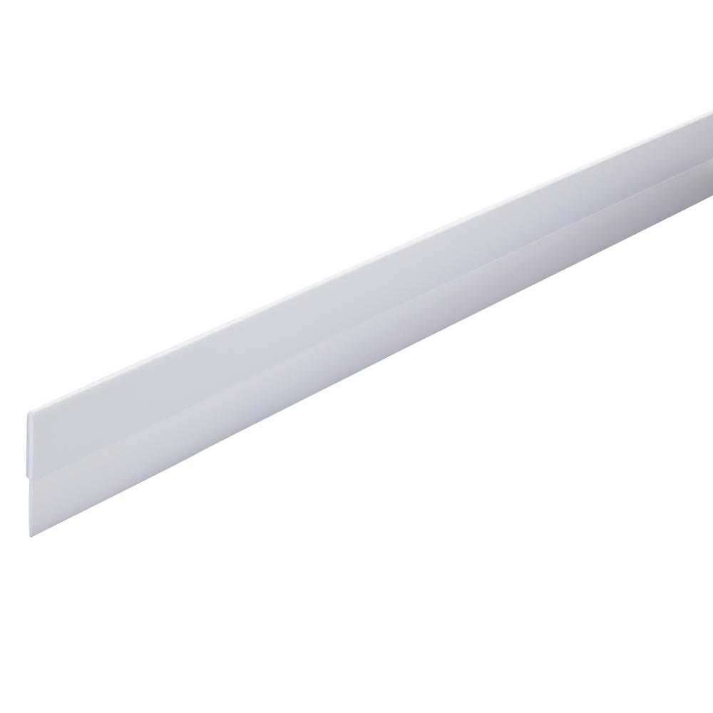 1/2 in. x 36 in. Vinyl Self-Adhesive Door Sweep in White