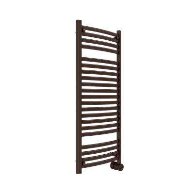 21-Bar Wall Mounted Electric Towel Warmer with Digital Timer in Oil Rubbed Bronze