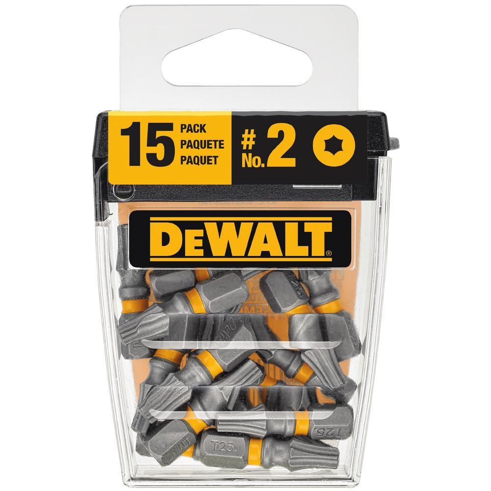 DEWALT MAX IMPACT 1 in. Torx 25 Steel Screwdriver Bit (15-Piece)