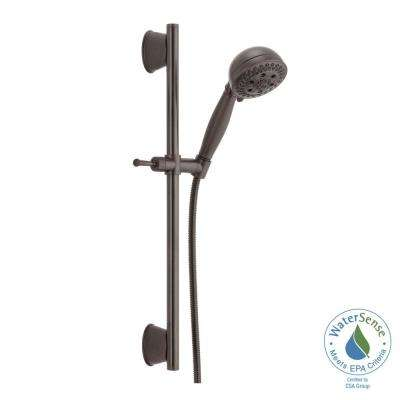 H2Okinetic 5-Spray Handheld Showerhead with Slide Bar and Pause in Venetian Bronze