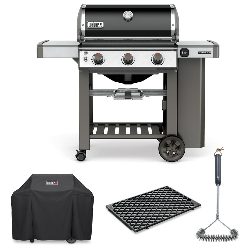 Weber Genesis Ii E 310 Liquid Propane Grill Combo With Brush Cover And Sear Grate