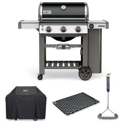 Genesis II E-310 Liquid Propane Grill Combo with Grill Brush, Cover, and Sear Grate