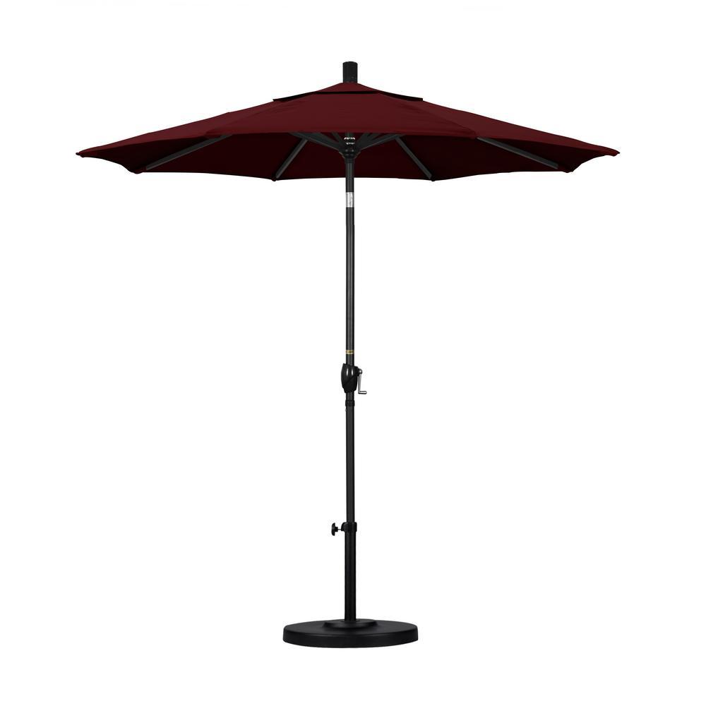 7 1/2 Ft. Fiberglass Push Tilt Patio Umbrella In Burgundy Pacifica