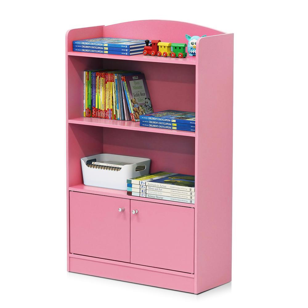 Furinno KidKanac Pink Storage Cabinet Bookshelf