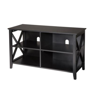 39.37 in. L x 15.75 in. W x 23.62 in. H Traditional Espresso X-Frame TV Console