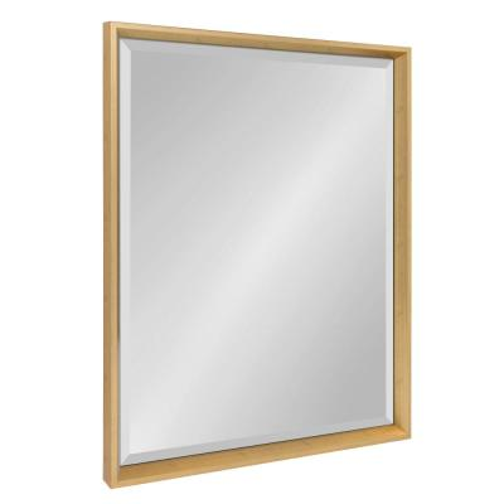 Calter Rectangle Gold Wall Mirror