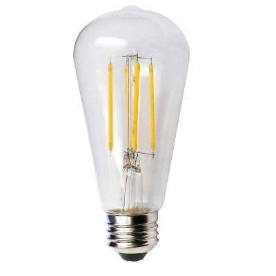 60-Watt Equivalent 5-Watt ST19 Dimmable LED Clear Filament Antique Vintage Style Light Bulb 2700K 85043