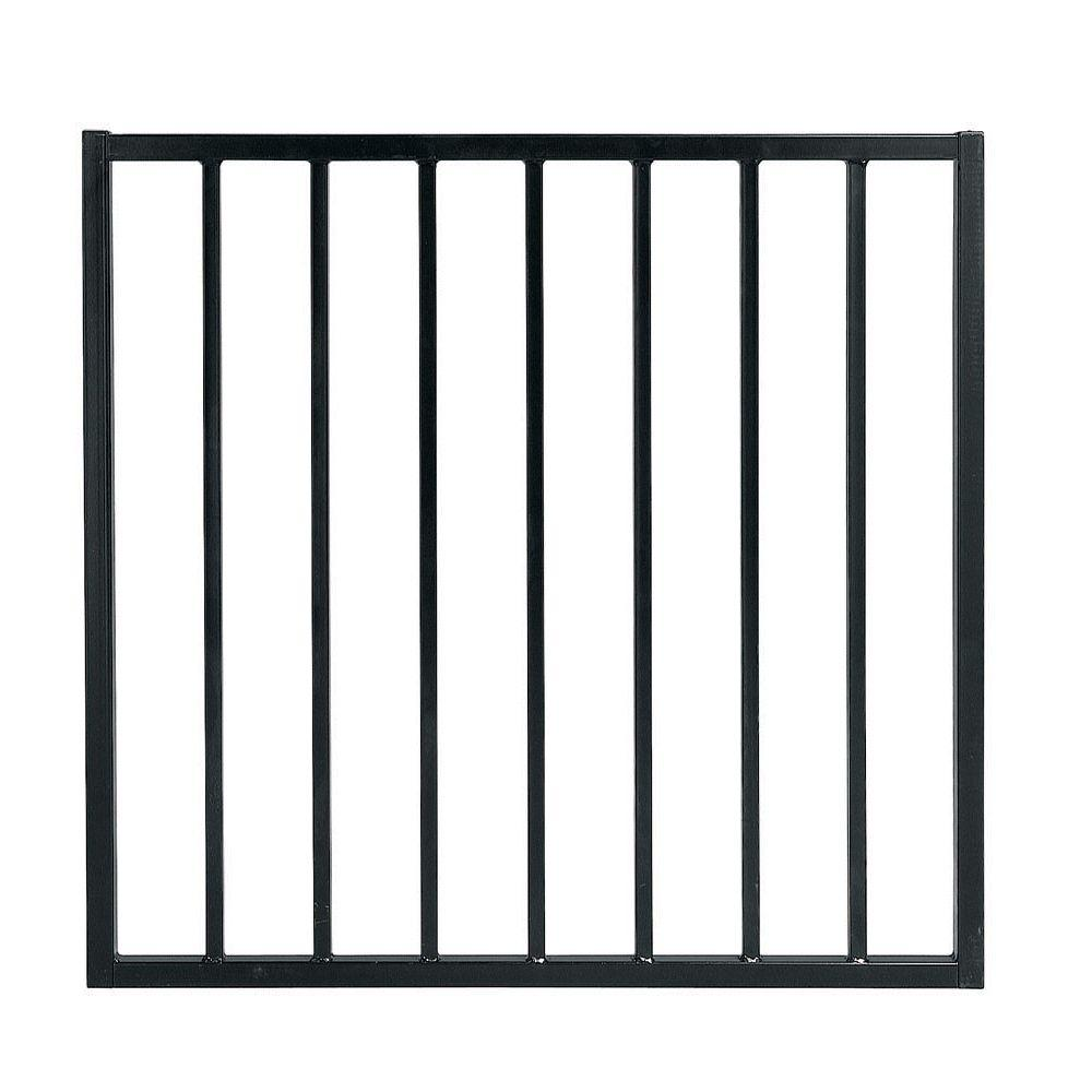 Pro Series 3 ft. W x 33 in. Black Steel Fence