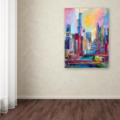 """47 in. x 35 in. """"Chicago 3"""" by Richard Wallich Printed Canvas Wall Art"""