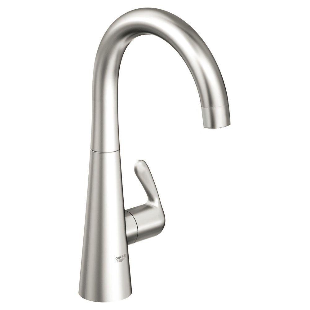 GROHE LadyLux 3 Single-Handle Standard Faucet in RealSteel-30026SD0 ...