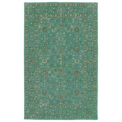 Weathered Turquoise 5 Ft X 8 Indoor Outdoor Area Rug