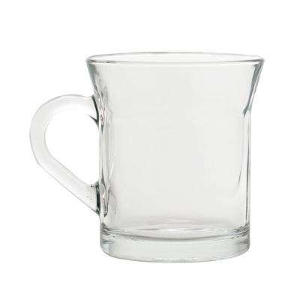 Cappuccino 10 oz. Clear Glass Coffee Mug (Set of 4)