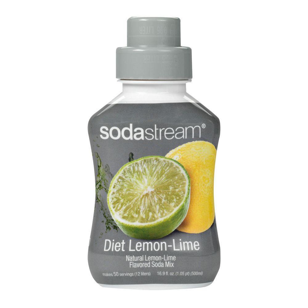 SodaStream 500ml Soda Mix - Diet Lemon Lime (Case of 4)