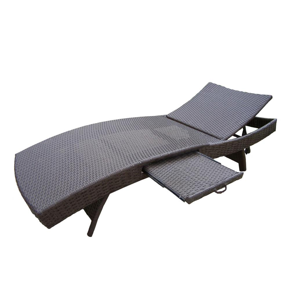 Elite Wicker Outdoor Chaise Lounge