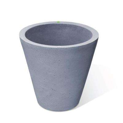 26.5 in. H x 26 in. Charcoalstone Concrete Texture Crete Polyethylene Self-Watering Planter