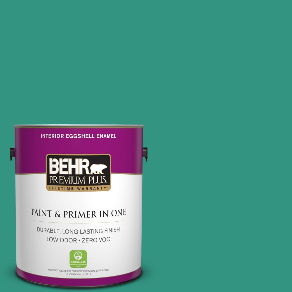 BEHR Premium Plus 1-gal. #P440-6 Esmeralda Eggshell Enamel Interior Paint