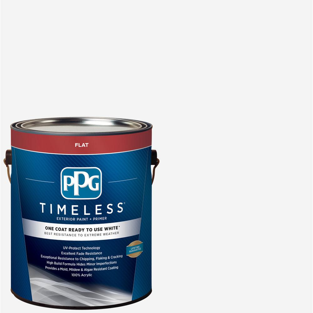 Ppg Timeless 1 Gal White Flat Exterior Ready To Use One Coat