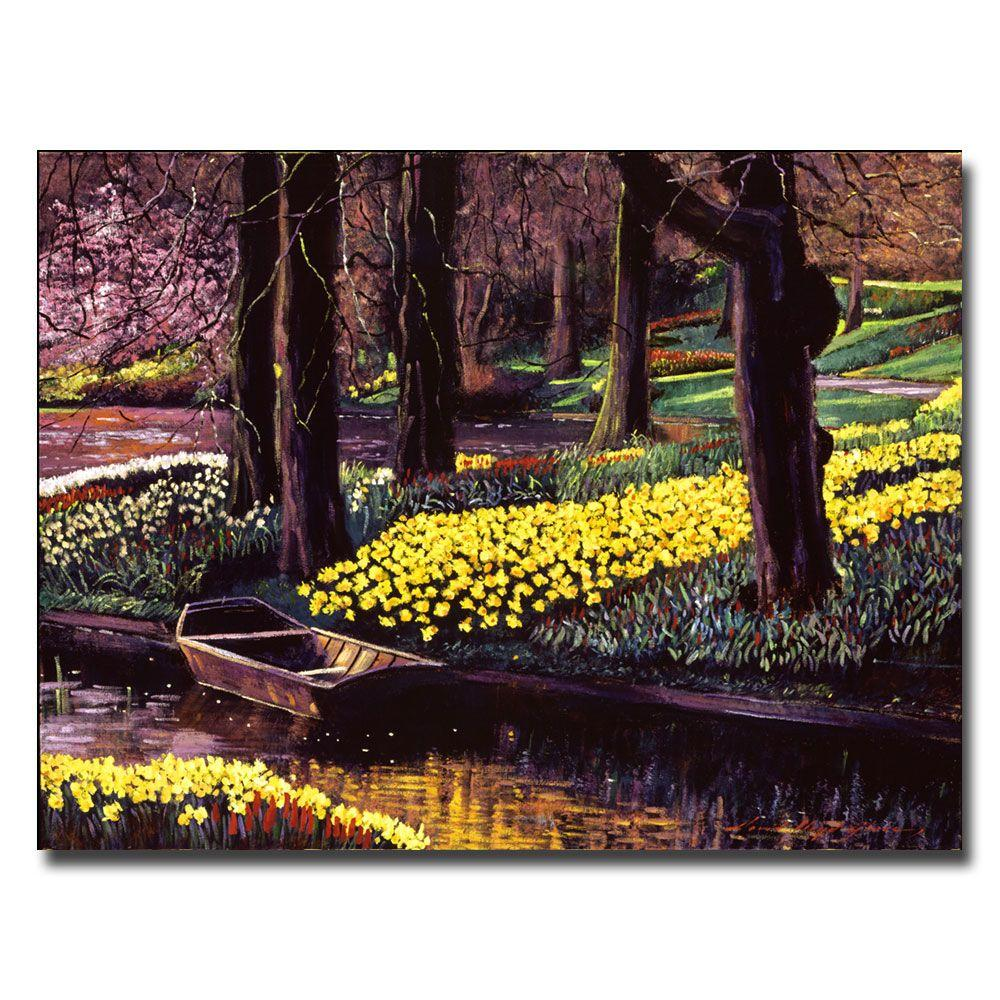 26 in. x 32 in. Daffodil Park Canvas Art