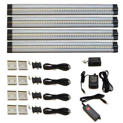 12 in. 4000K Neutral White LED Under Cabinet Light (4 Piece)