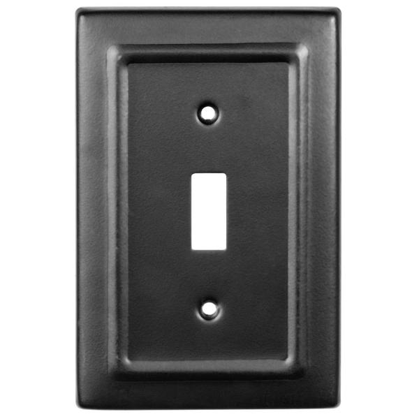 Monarch Abode Black 1 Gang Toggle Wall Plate 1 Pack 19151 The Home Depot