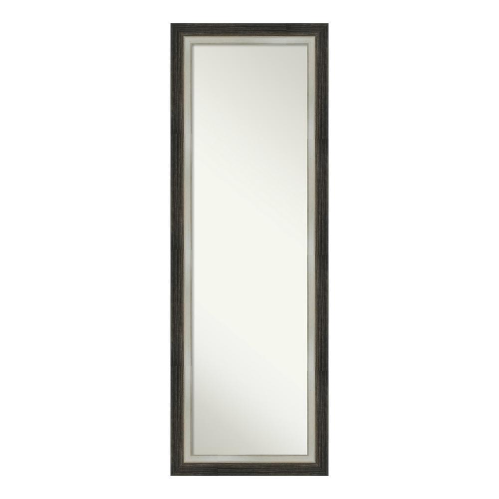 Amanti Art Brushed Metallic Wood on the Door Mirror DSW4093071
