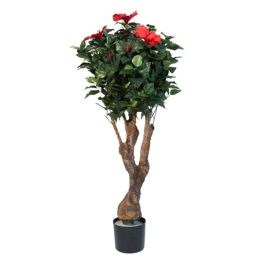 Pure Garden 48 In Hibiscus Tree With Flowers 50 10018 The Home Depot