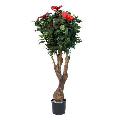 48 in. Hibiscus Tree with Flowers