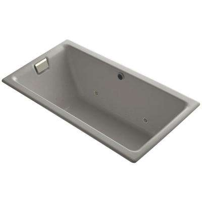 Tea-for-Two 5.5 ft. Air Bath Tub in Cashmere