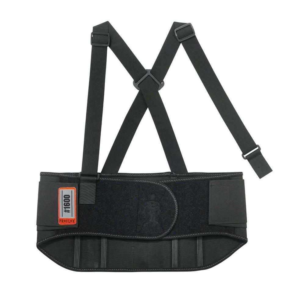 ProFlex Large Black Standard Elastic Back Support