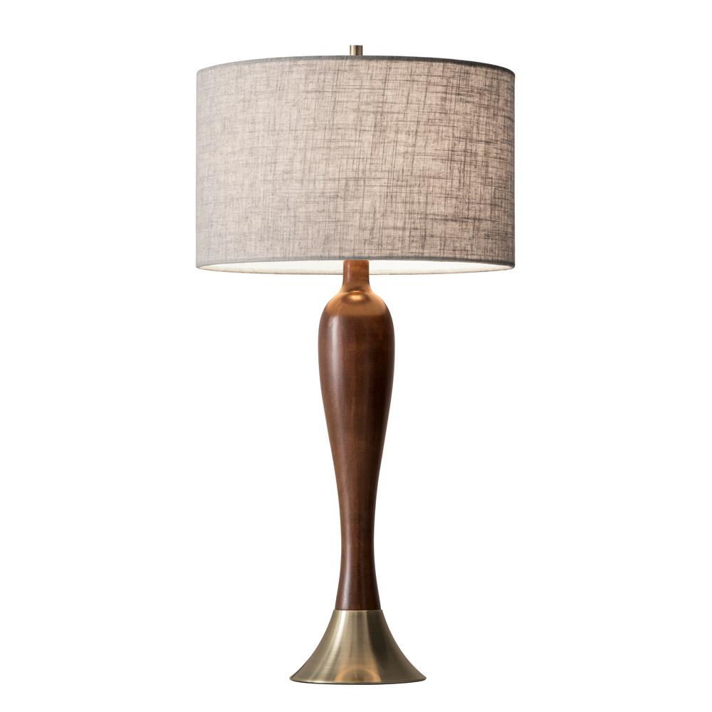 Claudia 28 in. Brass Table Lamp