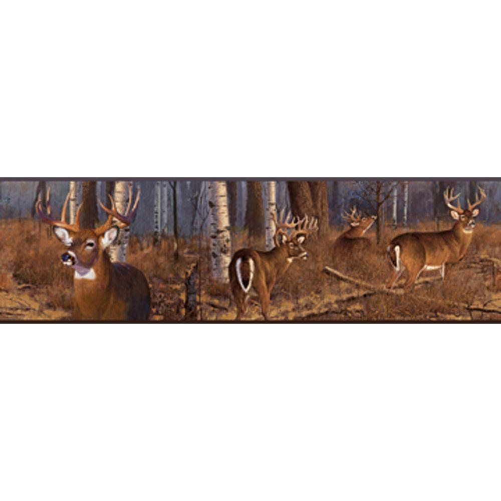 York Wallcoverings Lake Forest Lodge Deer Wallpaper Border