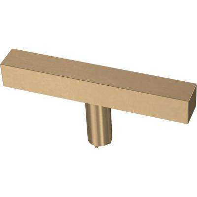 Square Bar 3 in. (76 mm) Champagne Bronze Elongated Bar Cabinet Knob