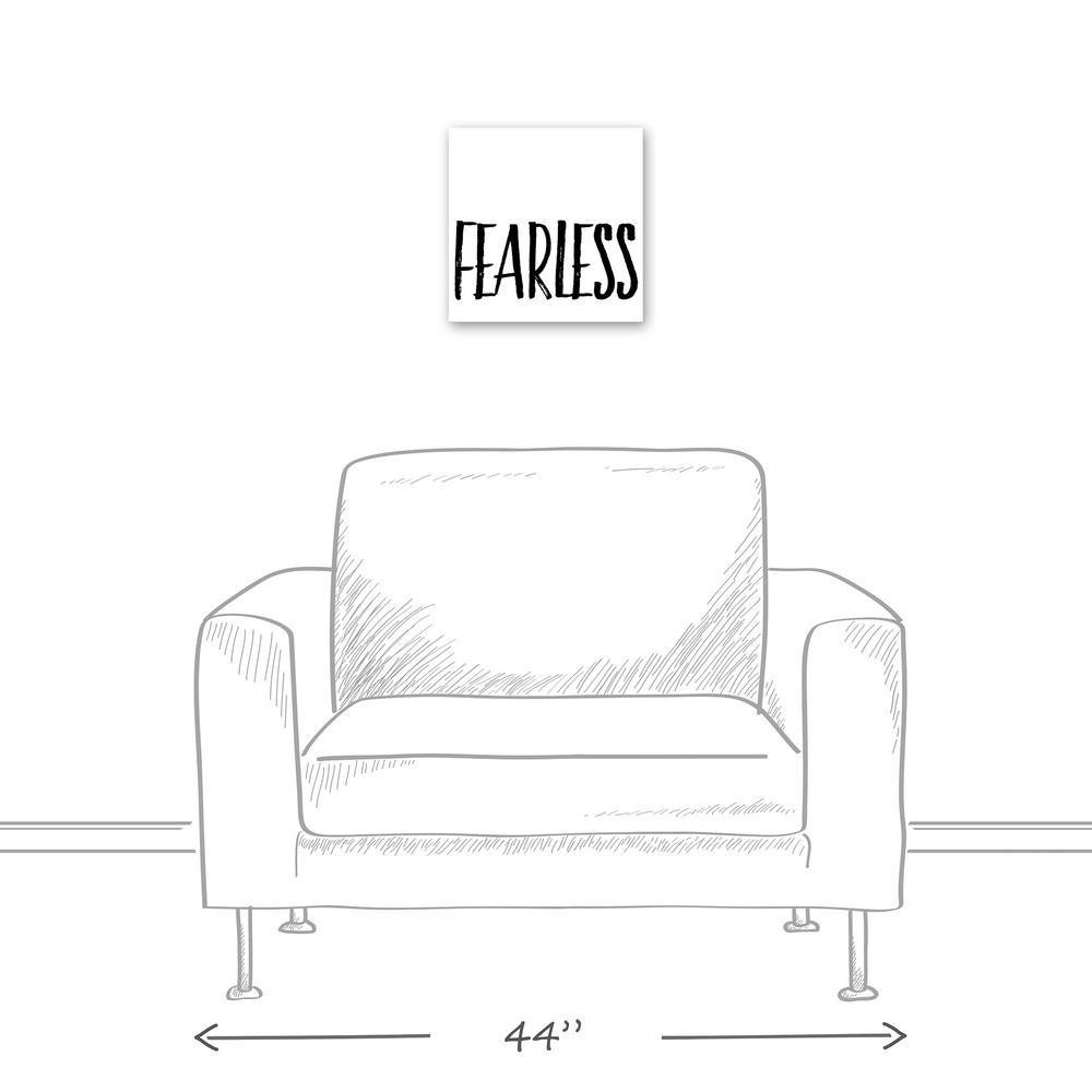 12 in. x 12 in. ''Fearless'' Printed Canvas Wall Art