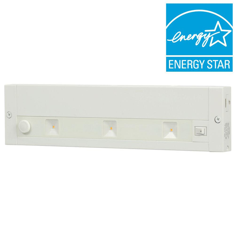 12 in. White LED Dimmable, Linkable Under Cabinet Light