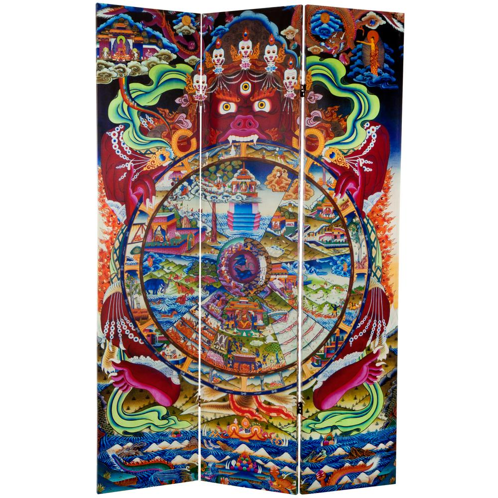 6 ft. Printed 3-Panel Room Divider