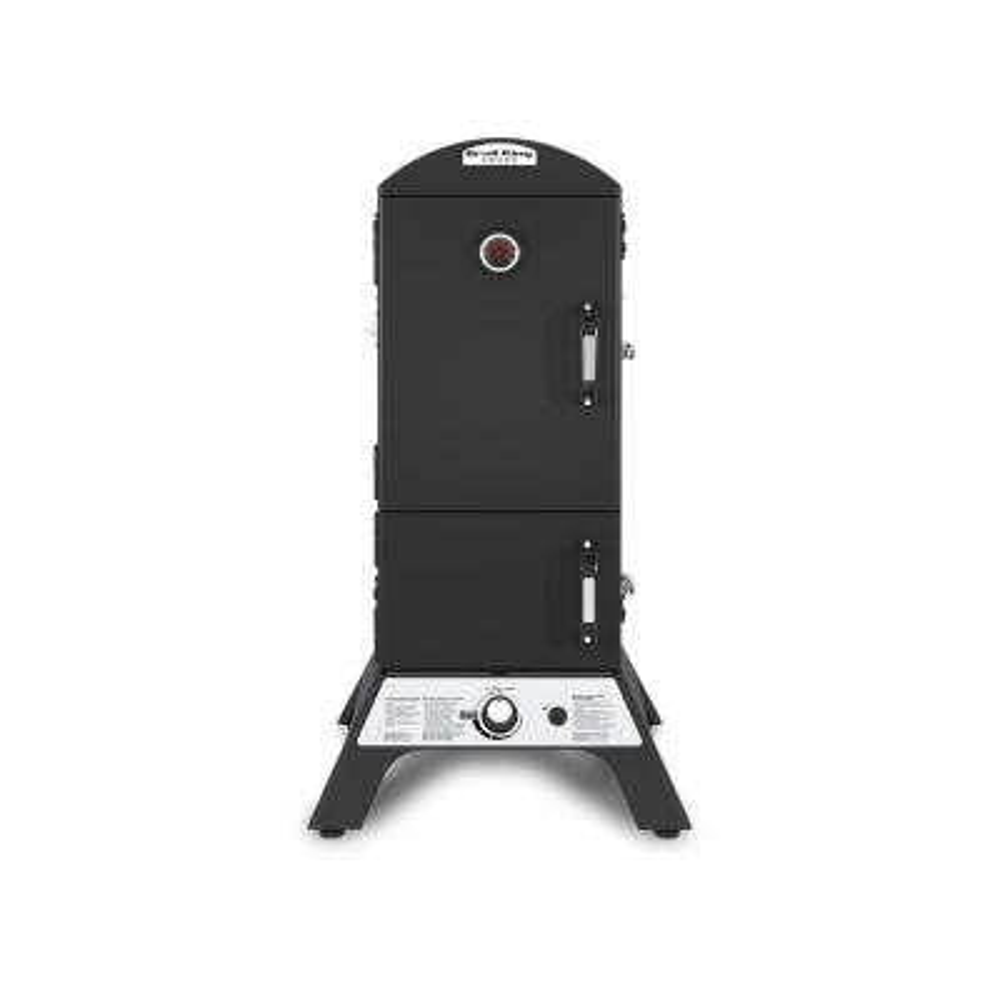 Smoke Vertical Propane Gas Smoker in Black