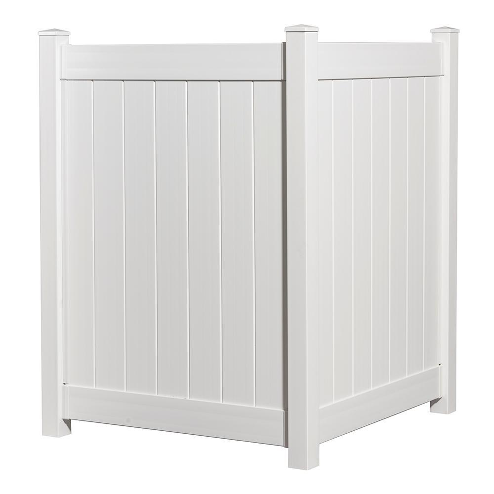 4-1/2 ft. x 4 ft. White Vinyl Privacy Fence Panel
