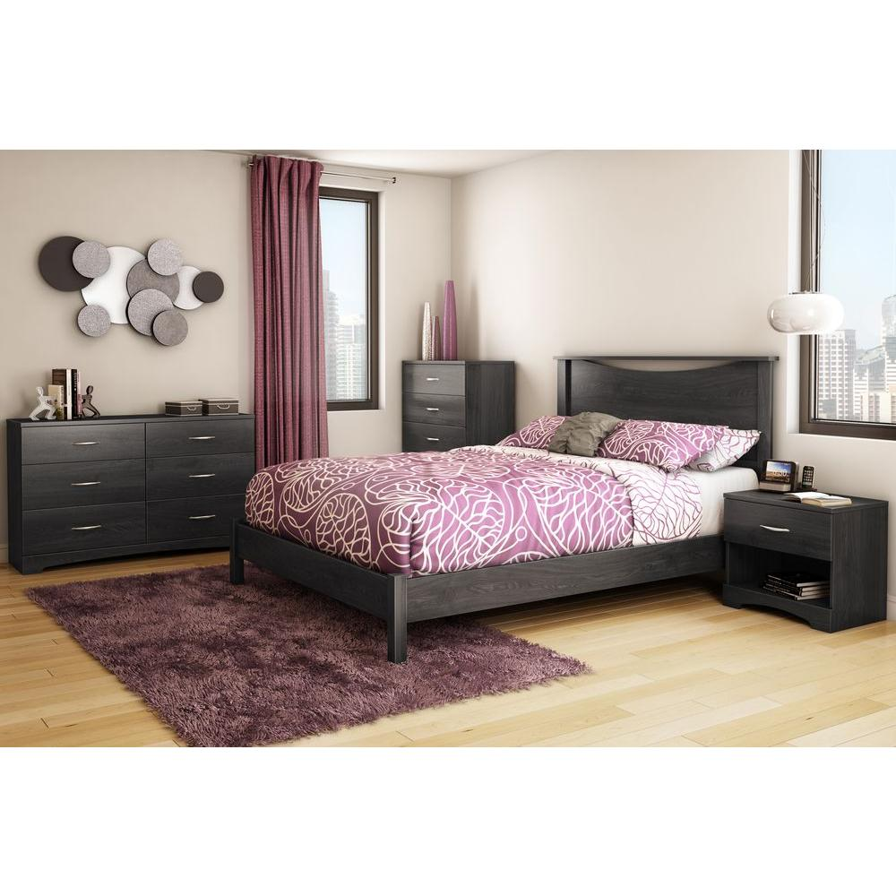 South Shore Step One QueenSize Platform Bed In Gray Oak - Fingerhut bedroom furniture