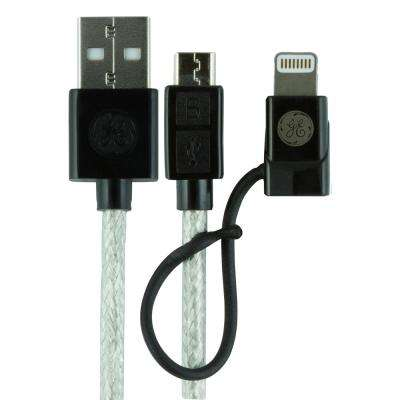 6 ft. 2-in-1 USB Micro Cable with Lightning Adapter