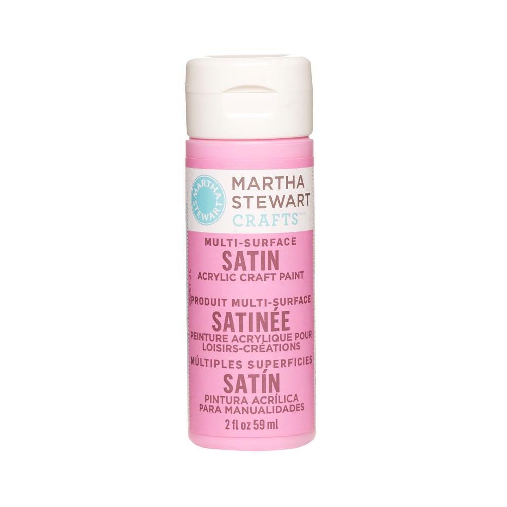 Martha Stewart Crafts 2-oz. Bubblegum Multi-Surface Satin Acrylic Craft Paint