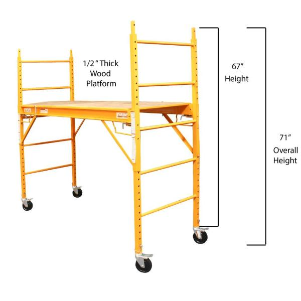 Pro Series 6 Ft X 6 Ft X 2 4 Ft Multi Use Drywall Baker Scaffolding With 1000 Lb Capacity Gssi The Home Depot