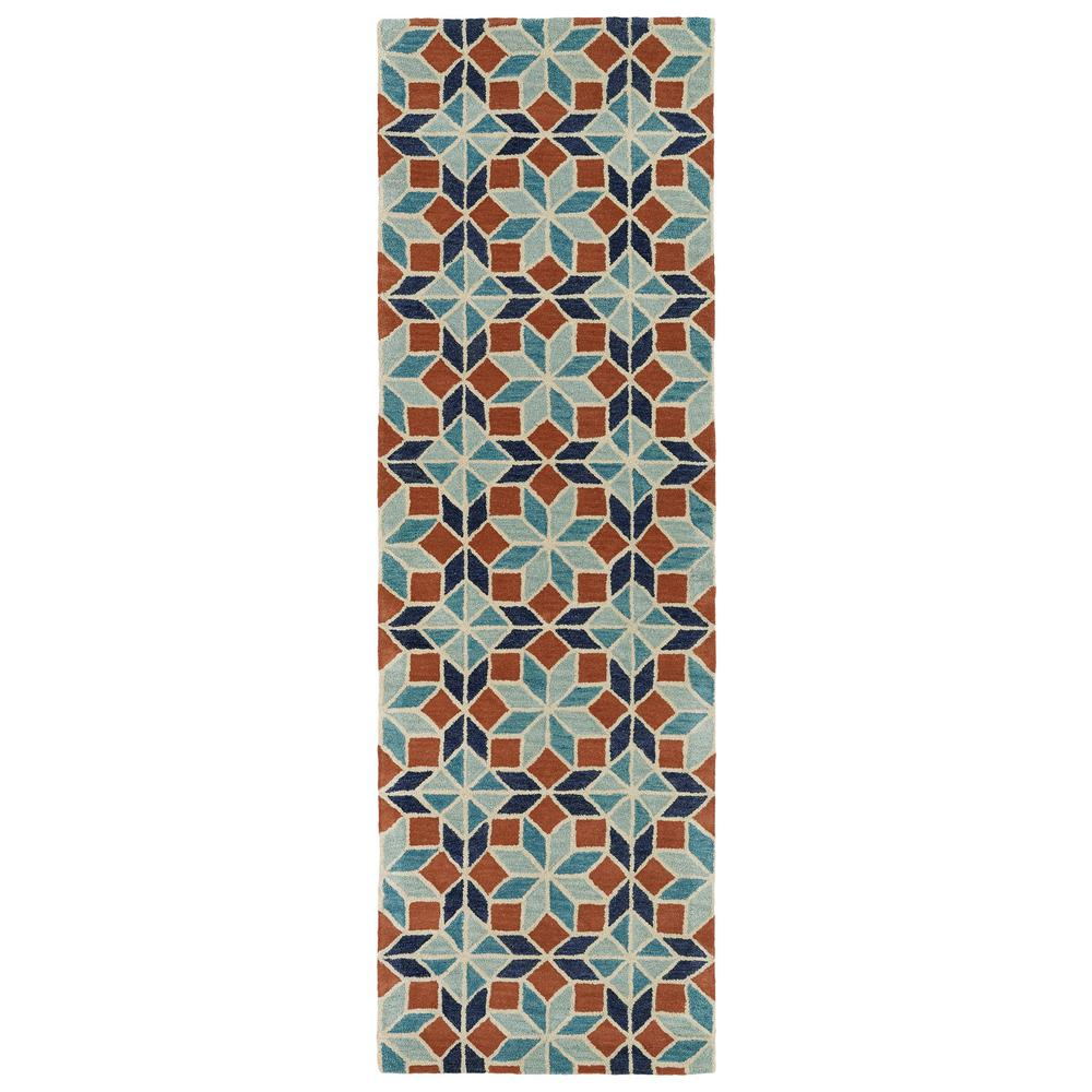 Kaleen Helena Turquoise Area Rug Reviews: Kaleen Art Tiles Turquoise 2 Ft. 6 In. X 8 Ft. Runner