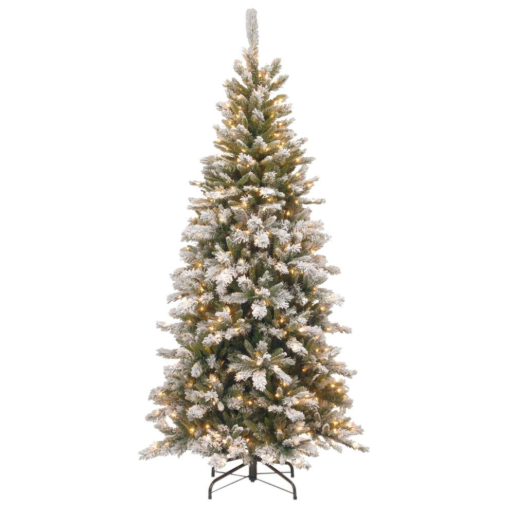 National Tree Company 7 5 Ft Snowy Mountain Pine Slim