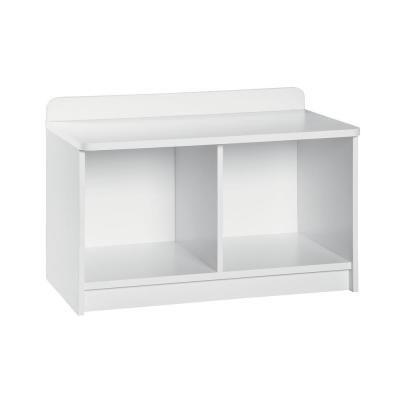 KidSpace 24 in. W x 17 in. H White 2-Cube Bench Organizer
