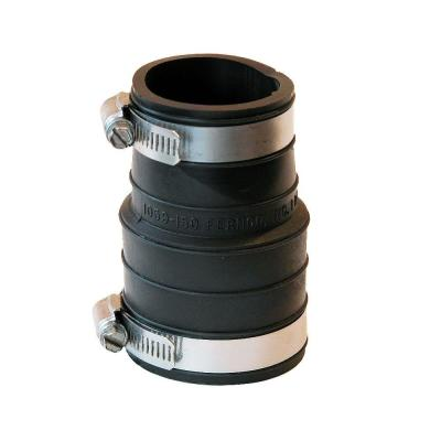 1-1/2 in. PVC Plastic Socket x 1-1/2 in. DWV Flexible Coupling