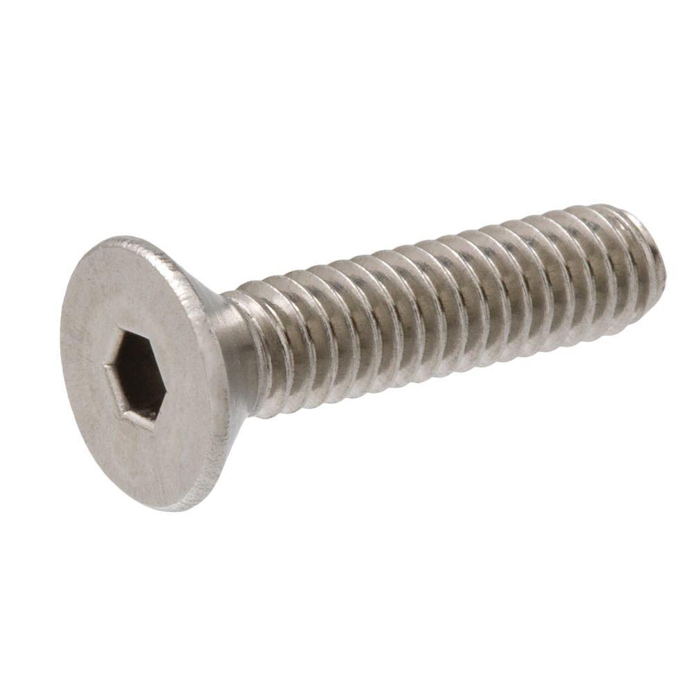 #10-32 x 1/2 in. Hex Flat Head Stainless Steel Socket Cap Screw (2-Pack)