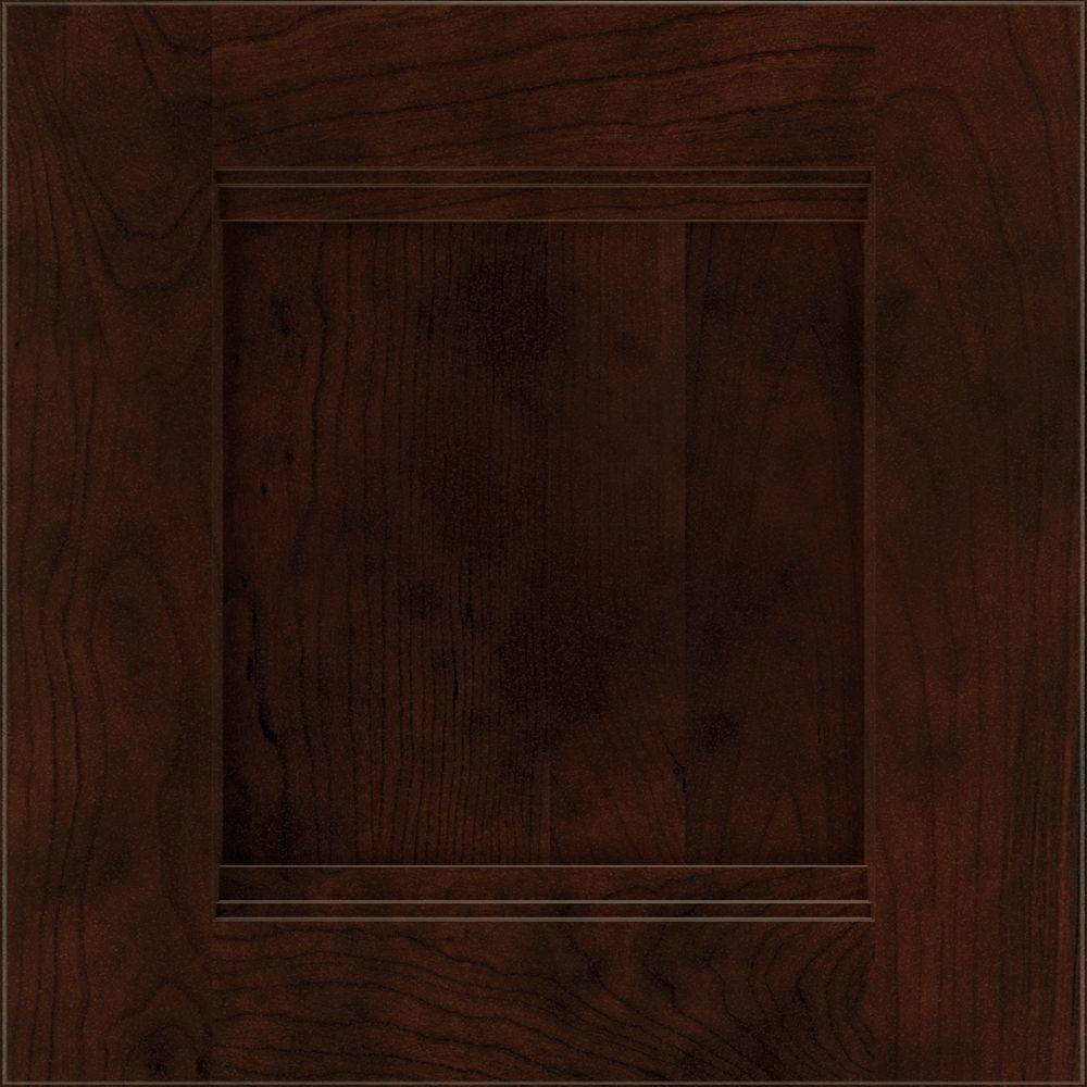 14.5x14.5 in. Draker Cabinet Door Sample in Chocolate