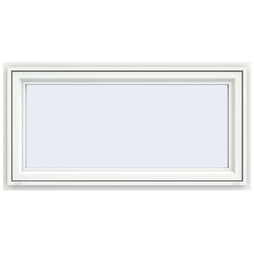 JELD-WEN 47.5 in. x 23.5 in. V-4500 Series Awning Vinyl Window - White