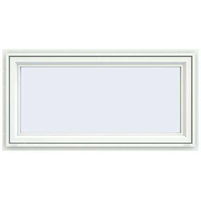 47.5 in. x 23.5 in. V-4500 Series Awning Vinyl Window - White